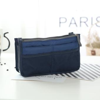 Túi vải dù 13 ngăn đựng đồ cá nhân ( xanh đen)