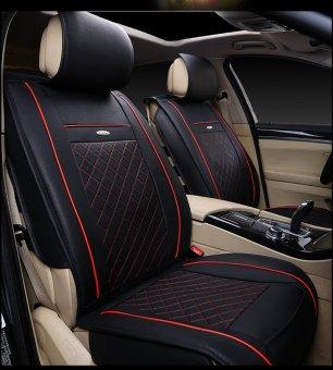 Bộ áo da bọc ghế cho ô tô mẫu 2 (Đen)