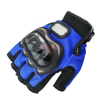 Găng tay cụt ngón Pro-Biker (Xanh)