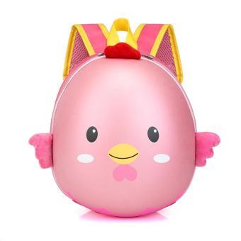 Balo trứng gà hoạt hình 3D cho các bé học sinh mẫu giáo (Hồng)