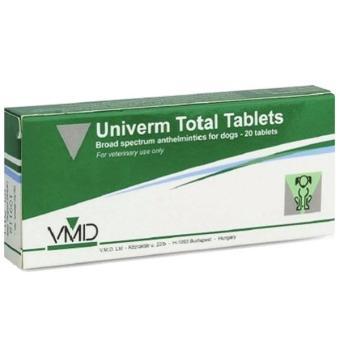 Bộ 3 viên thuốc tẩy giun cho chó mèo Univerm Total