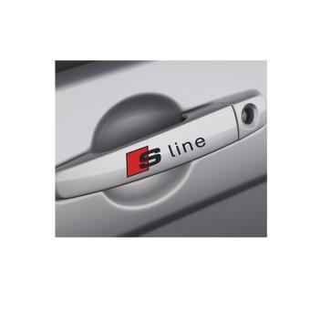 Tem dán cho xe hơi S Line (dán tay nắm cửa, gương chiếu hậu,...) - ĐEN ĐỎ