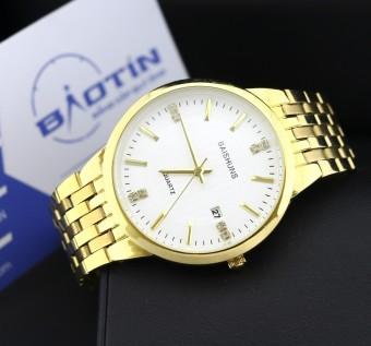 Đồng hồ nam dây thép mạ Vàng BAISHUNS 4586 (Trắng)