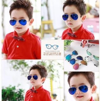 Kính thời trang phản quang cực chống tia UV siêu đáng yêu cho bé Korea Kids 2017 F171 (Xanh)