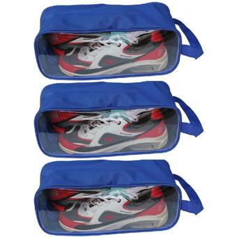 Bộ 3 túi đựng giày du lịch, thể thao (Xanh)