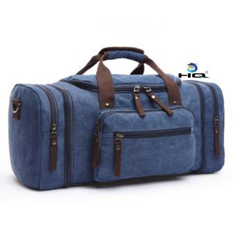 Túi du lịch cỡ đại vải canvas cao cấp HQ 81TU46 4(xanh lam)
