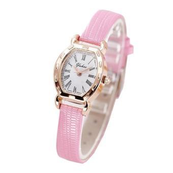 Đồng hồ nữ dây da thời trang Yuhao 4725 (Dây hồng)