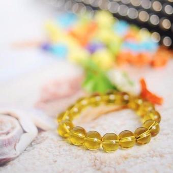 Bộ 2 Vòng Tay Thạch Anh Vàng(Vàng)