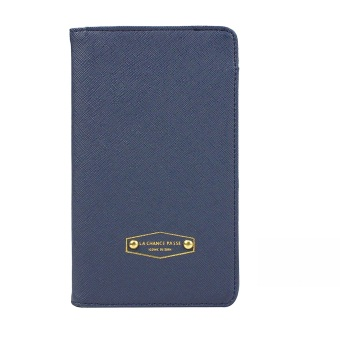PU Leather Travel Credit Card Passport Boarding Pass Ticket Holder Bill Organizer Cover Case Wallet Product Blue