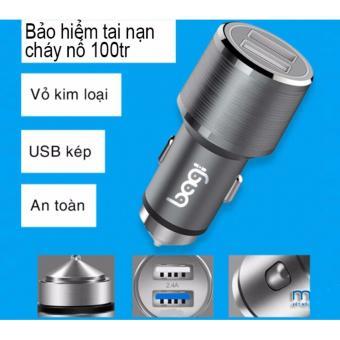 TẨU SẠC XE ÔTÔ 2A BAGI 2 CỔNG USB