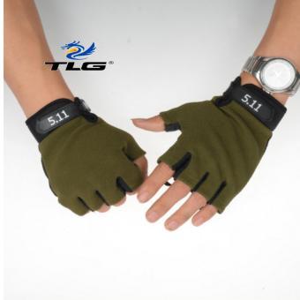 Găng tay hở ngón thể thao lái xe TL6214 (oliu)
