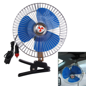 8 Inch 12V Portable Vehicle Auto Car Fan Oscillating Car Auto Cooling Fan - intl