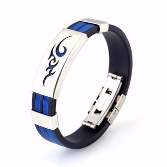 Vòng tay thể thao cao su sport bracelet xanh dương