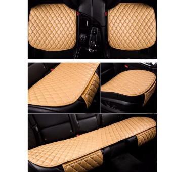 Bộ lót ghế da cho ô tô mẫu 3 (Be)