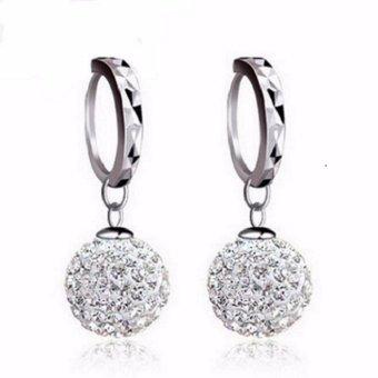 Bông tai bạc 925 hạt châu đính đá