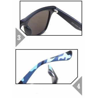 Bộ mắt kính thời trang Nam nữ A -8510 (Gọng đen họa tiết hoa văn)