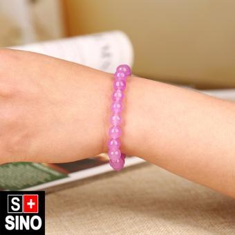 Vòng tay thạch anh hồng phấn Sino VTSN046