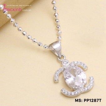 Mặt dây chuyền trang sức bạc Ý S925 Bạc Xinh - Quà tặng người thương PP1287