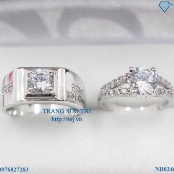 Nhẫn đôi nhẫn cặp bạc đẹp ND0246 - Trang Sức TNJ