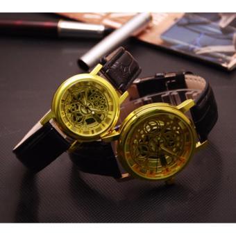 Đồng hồ cặp nam nữ mặt tròn King (2 cái mặt Vàng)