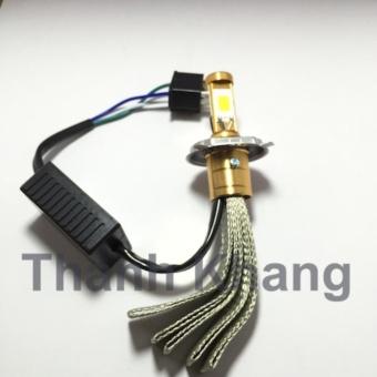 Đèn pha led Thanh Khang dây 3 tim chân h4 dành cho xe máy ánh sáng trắng