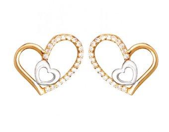 Bông tai nữ mạ Vàng 14k - BONG005
