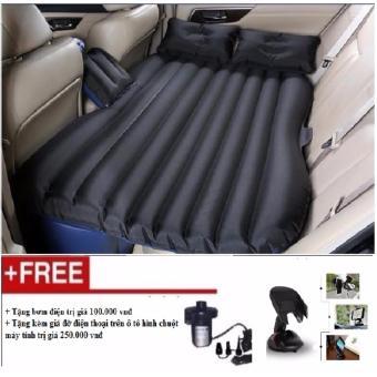Đệm hơi ô tô cao cấp vải dù (Đen) + giá đỡ điện thoại hình chuột máy tính