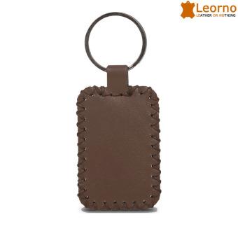 Móc khóa da handmade Leorno MK03 - Nâu