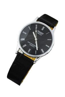 Đồng hồ nam dây da SWIDU 002 (Đen)