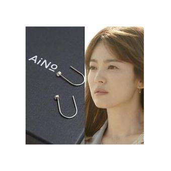 Bông tai chữ U bạc 925 trang sức Hàn Quôc