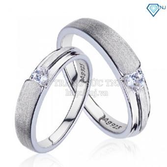 Nhẫn đôi nhẫn cặp bạc đẹp ND0109