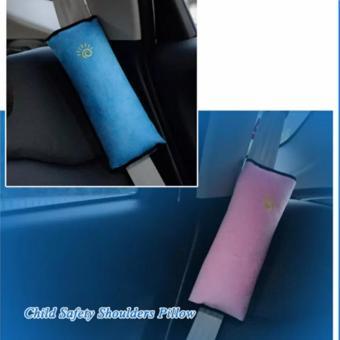 Gối tì vai an toàn cho bé trên xe ô tô (xanh)