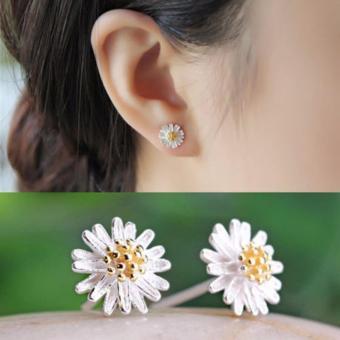 Bông tai hoa cúc bạc 925