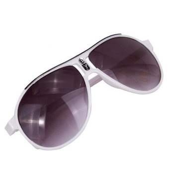 LALANG Fashion Kids Anti UV Sunglasses Goggles Eyewear White - Intl