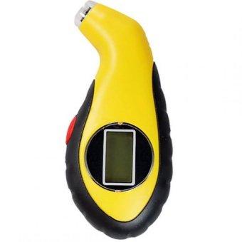 Đồng hồ đo áp suất lốp điện tử cho ô tô xe máy (Vàng)
