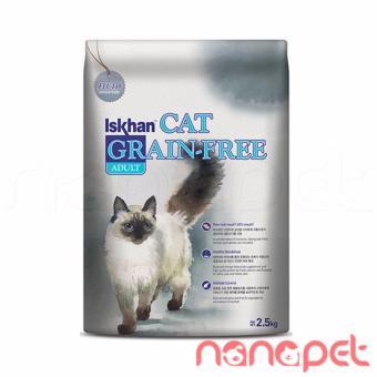 Hạt Iskhan Không Ngũ Cốc Cho Mèo Lớn Túi 2.5Kg