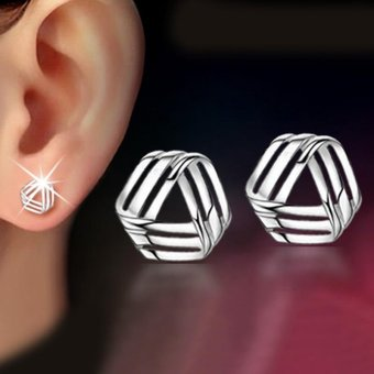 Korean Style Earrings Jewelry Lovely Rhyme Small Women Jewelry Platinum Resistant Allergy - intl