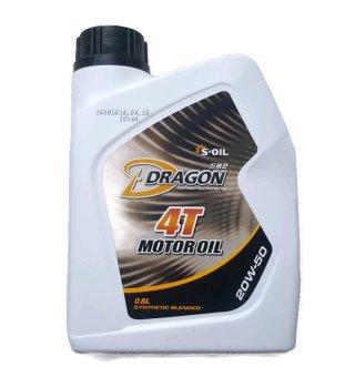 Dầu nhớt S-Oil Dragon 20W-50 cho xe máy 4 thì API SM, JASO MA 1L