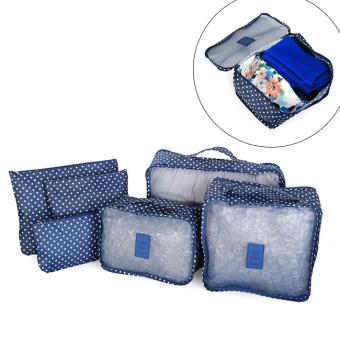 Bộ 6 túi bag in bags Traveling thời trang tiện dụng (Xanh đen)