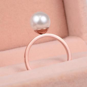 Nhẫn Titan Không đen 1 Hạt Ngọc Trai TT 0406