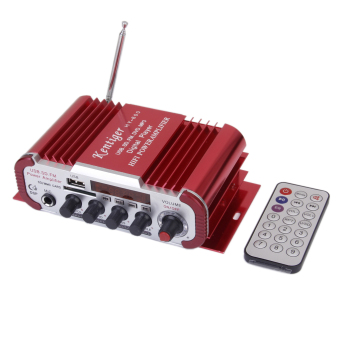 DC12V Microphone Power Amplifier for USB SD/MP3 Format/FM lHY600 Red - Intl