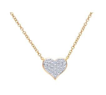 Mặt dây chuyền bạc mạ vàng 14k hình trái tim - MDC18