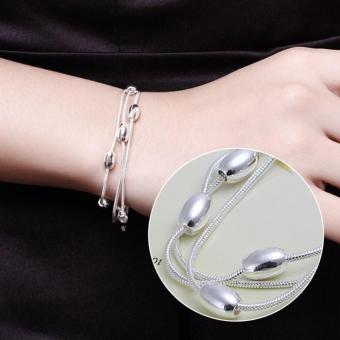 Vòng tay bạc kiểu giọt nước tinh tế thời trang LKNSPCH236(Bạc)