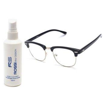 Bộ 1 gọng kính nam - nữ và 1 chai nước lau kính MKH X1111 (Trắng)