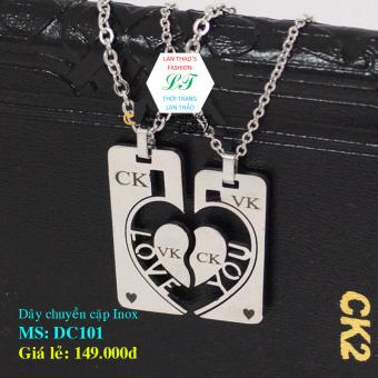 Dây chuyền Inox cặp chữ LOVE ck vk DC101 (Trắng)
