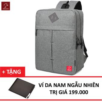 Balo Laptop Glado Cylinder BLC005 (Xám) + Tặng Ví Nam Thời Trang - Hãng Phân Phối Chính Thức