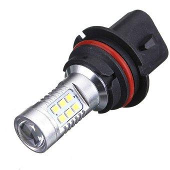 9004 HB1 2835 SMD 21 LED Car DRL Light DC12V Pure White - intl