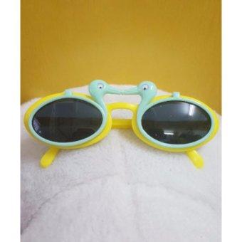 Kính mát trẻ em chống nắng hình con vịt (Xanh vàng)