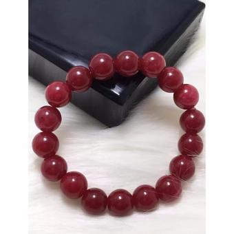 Vòng đá tự nhiên phong thuỷ màu đỏ VT1162