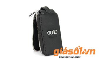 Bao da sần chìa khóa hãng xe Audi (Đen)